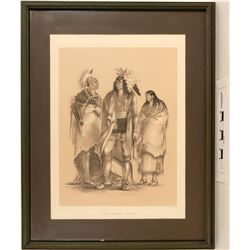 Geo. Catlin's North American Indians - Framed Litho Reproduction  (125092)