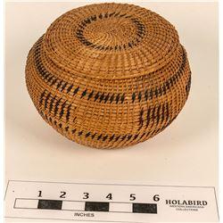 Polychrome Washoe Lidded Basket  (124487)