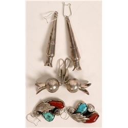 Navajo Earrings--3 Pair  (121189)