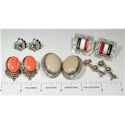 Five Pairs Native American Earrings  (124845)