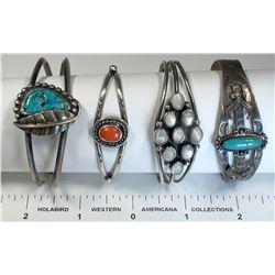 Vintage Navajo Bracelets (4)  (124853)