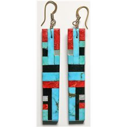 Mosaic Inlay Earrings, Reano Family  (119483)