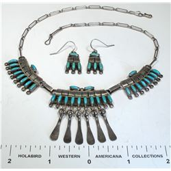 Petit Point Necklace and Earrings  (124858)
