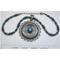 Kevin Billah Silver and Turquoise Bracelet  (125173)