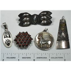 Native American Pendants (4)  (124870)