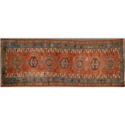 Persian Hall Runner, 10.5 feet long  (124504)