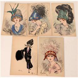 Helli Girls - French Art Postcards  (123470)