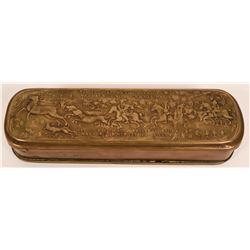 German Brass and Copper Tobacco Box  (119196)
