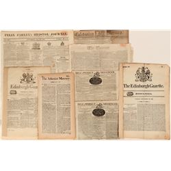 Eight Early  English Newspapers  (123187)