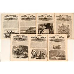 London Illustrated Times - All with interesting American Articles (7)  (123185)
