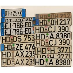 German License Plate Collection (16)  (124502)