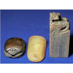 "Stone Signature Seals or ""Chops""  (108668)"