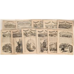 Gleason's Pictorial Newspaper: all with Ships in Harbor Drawing at top of first page!   (123100)