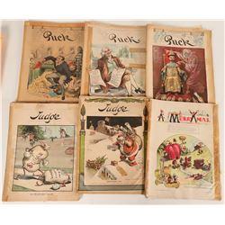 Puck and Judge Magazines (6)  (124640)