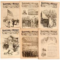 Six Very Patriotic Covers on Harper's Weekly  (123105)
