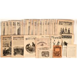 Thirty-five Newsprint Items Providing a Look at the 1860's and 1870's  (123114)