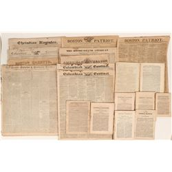 Thirty-one early American Newspapers, 1810's and 1820's  (123101)