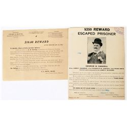 Two Reward flyers  1904-06  (120346)