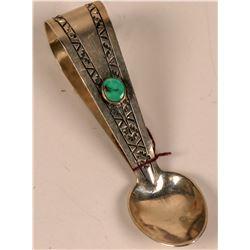Turquoise Loop Design Silver Spoon  (124086)