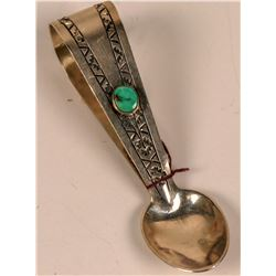 Turquoise Loop Design Silver Spoon  (124086)
