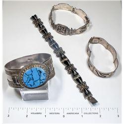 Antique Mexican Bracelets (4)  (124856)