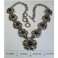 Antique Mexican Floral Design Necklace  (124860)