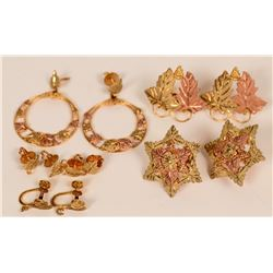 Black Hills Gold Earrings (6 pairs)  (121230)