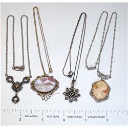 Antique Necklaces (4)  (124867)