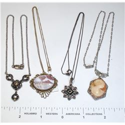 Antique Necklaces (4)  (124867)
