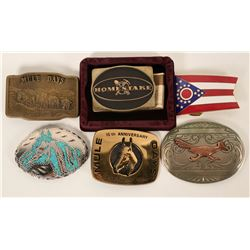 Belt Buckle Collection, Homestake, Mule Days, etc. - 6  (125199)