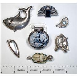 Lucky Seven Silver Pendants  (124874)