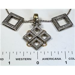 Modern Diamond Necklace  (124855)