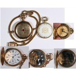 Pair of Womens Pocket Watches  (125261)