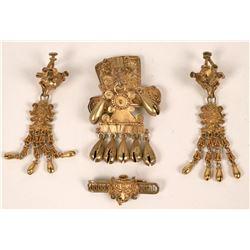 Peruvian Gold on Sterling Jewelry  (124092)
