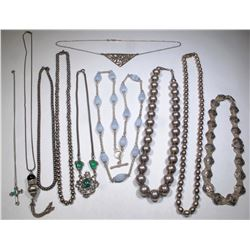 Silver Necklaces (5)  (124866)