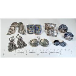 Silver Vintage Clip/Screw on Earrings (6 pairs)  (124846)