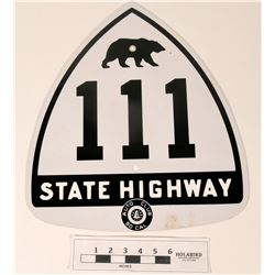 CA 111 State Highway - Repro Enamel Sign  (125095)