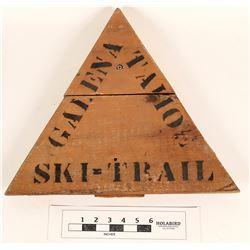 Tahoe-Galena Wood Sign, C1920  (125220)