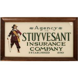 Stuyvesant Ins. Co. Sign - Rear-painted Glass  (125190)