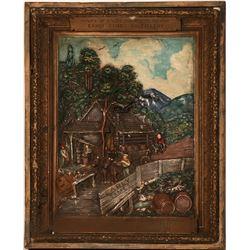 Early Times Plaster Frame Whiskey Advertising  (125334)