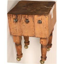 California Wood Butcher's Block - Vintage!  (125331)