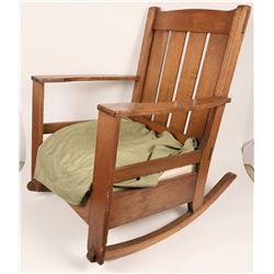 Mission Style Rocking Chair, 19th Century  (120633)