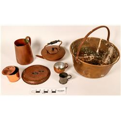 Copper and Brass Pots, Pitchers, and Cups [7]  (108744)