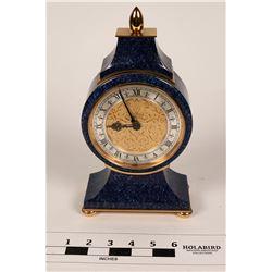 Faux Lapis Clock by Luxor, Shreve & Co.  (108669)