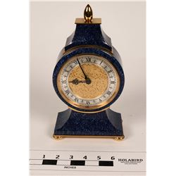 Faux Lapis Clock by Luxor, Shreve & Co.  (108669)