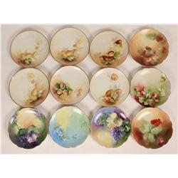 Hand Painted Salad/ Desert Plates (12)  (125257)