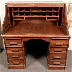 Oak Roll Top Desk  (119975)
