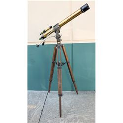 Refractor Telescope, Brass Finish, with Tripod  (125198)