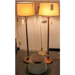 Three Vintage Mogul Floor Lamps  (122057)