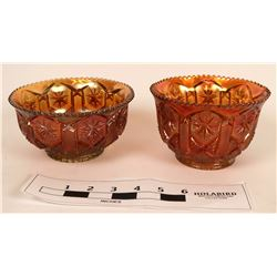 Two Carnival Glass Bowls  (122768)
